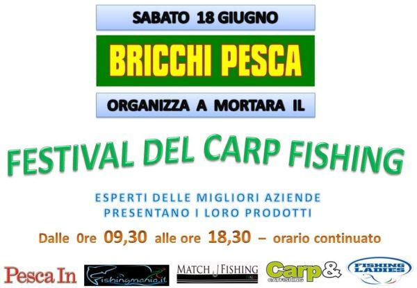 1LOCANDINA FESTIVAL DELCARP FISHING DA BRICCHI PESCA