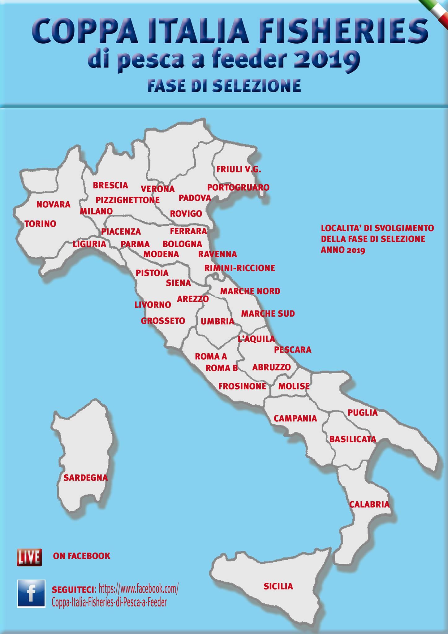 Cartina Italia Riccione.Coppa Italia Fisheries 2019 Match Fishing Italia
