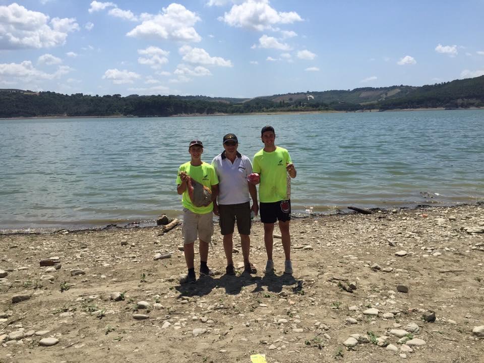 2° squadra classificata  Crazy-Fisher B ( Natini- Bigini-Pacioselli)