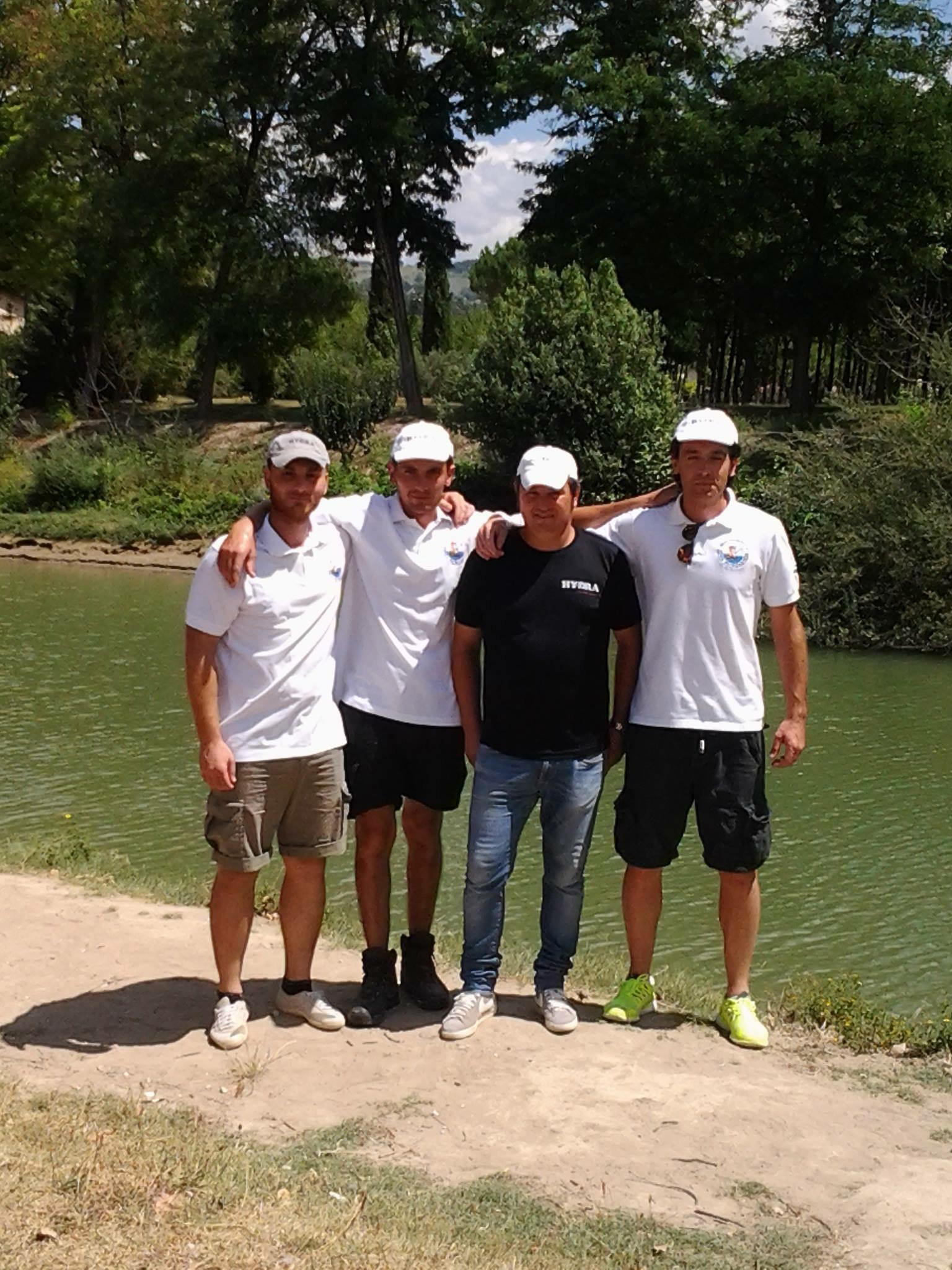squadra D ASD Lenza Petrignanese Hydra   vincente campionato( Cambiotti Alessio, Coraggi Roberto, Catasti Marco, Famiani Roberto)