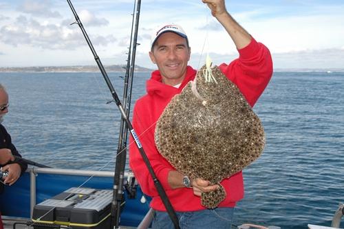 rombo chiodato pescato nella Manica