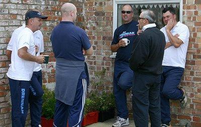 TEAM ENGLAND la Gang dei 5. (da sin a des) Steve Gardener, Sean Ashby (Behind Steve), Kian Wardle (non-England), Alan Scotthorne, Stu Conroy e Will Raison.